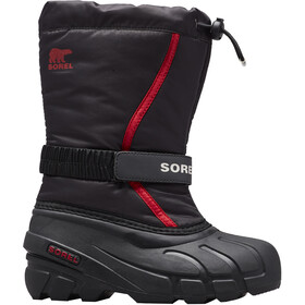 Sorel Flurry Saappaat Lapset, black/bright red